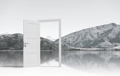 Fototapet Öppnade dörren till någonstans