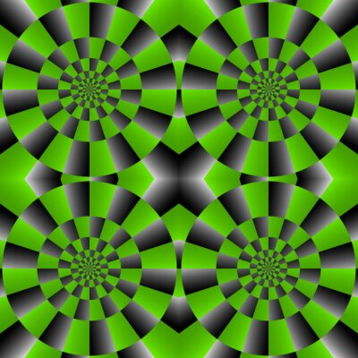 Fototapet Optisk illusion centrifugering, Vector Mönster Bakgrund.