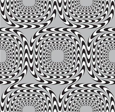 Fototapet Optisk illusion, Vector Seamless bakgrund, Squares Mo