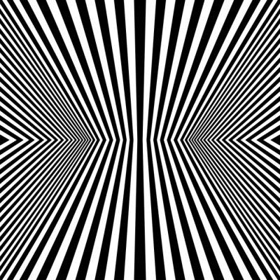 Fototapet Optisk konst Rhombus sömlösa mönster