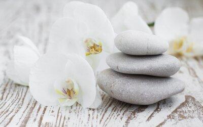Fototapet orkidéer spa