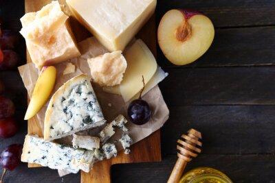 Fototapet ost med frukt för aptitretare