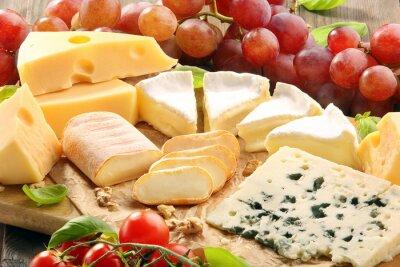 Fototapet Ost styrelse - olika typer av ost sammansättning