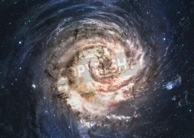 Fototapet Otroligt vacker spiralgalax någonstans i djupt utrymme.