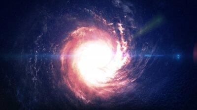 Fototapet Otroligt vackra spiralgalax någonstans i rymden. Delar av denna bild som tillhandahålls av NASA