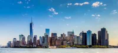 Fototapet Paesaggio di città di New York con grattaciel