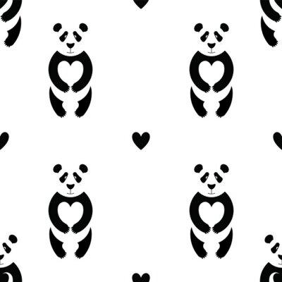 Fototapet Panda mönster 6