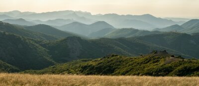 Fototapet Panorama av berg