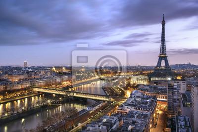 Fototapet Panorama de la Ville de Paris avec la Tour Eiffel