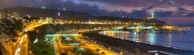 Fototapet Panorama HDR tanke på Chorrollos Bay i Lima, Peru.