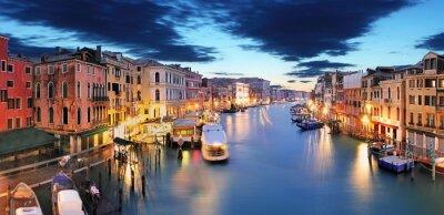 Fototapet Panorama i Venedig från Rialtobron