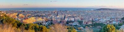 Fototapet Panorama över Barcelona