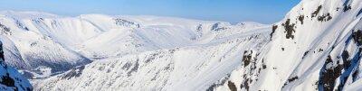 Fototapet Panorama över de norra bergen