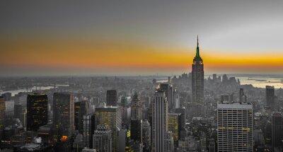 Fototapet panorama över Manhattan, New York