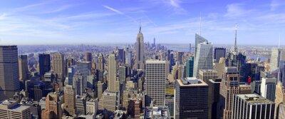 Fototapet Panorama över Manhattans skyline i New York, USA