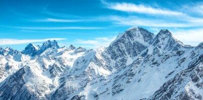 Fototapet Panorama vita bergen i snö