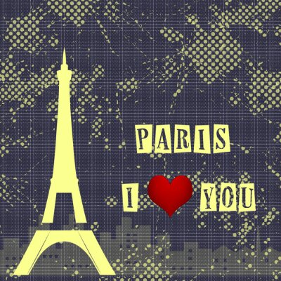 Fototapet Paris - en stad av kärlek och romantik