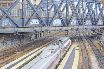Fototapet Paris, Frankrike den 9 februari, 2016: Nord järnvägsstation i Paris, Frankrike