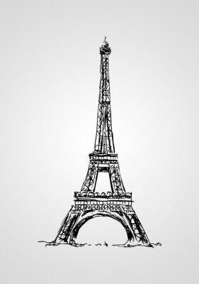 Fototapet Paris konstdesignillustration