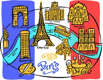 Fototapet Paris sjunker
