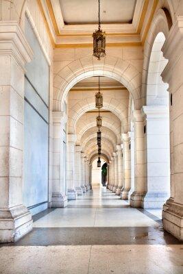 Fototapet Passagen av den berömda kubanska Palace, är idag museum