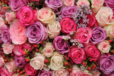 Fototapet Pastell bröllop blommor