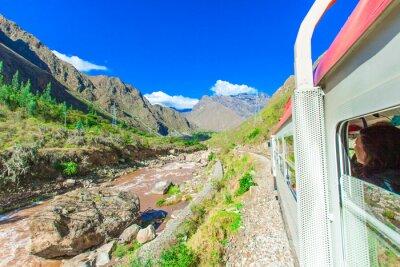 Fototapet Peru Rail från Cuzco till Machu Picchu Peru