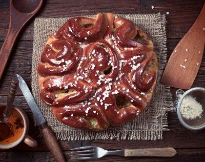 Fototapet Pie och köksredskap