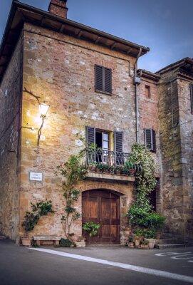 Fototapet Pienza by night, Toscana