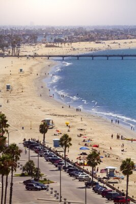 Fototapet Pir i Long Beach, Los Angeles, Kalifornien