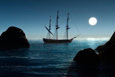 Fototapet Pirat skepp