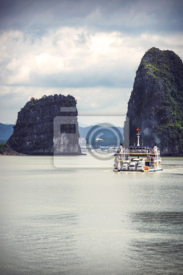 Fototapet Pittoreska havet landskap. Ha Long Bay, Vietnam