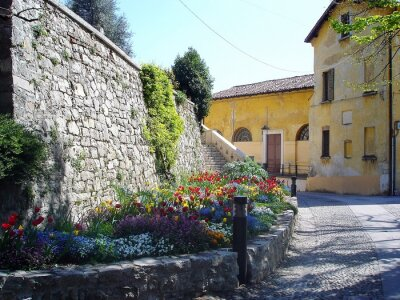 Fototapet pittoreska streen i Italien