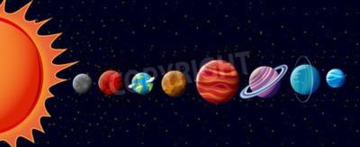 Fototapet Planeter i solsystemet illustration