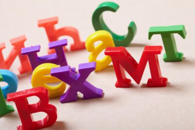 Fototapet Plast alfabetet
