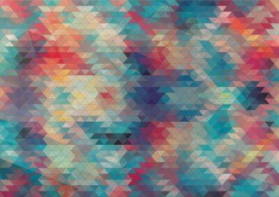 Fototapet platt design geometrisk färgrik bakgrund