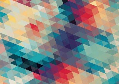 Fototapet platt design geometriska retro färgrik bakgrund