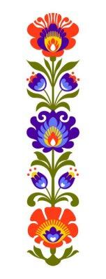 Fototapet Polish folk blommor papercut