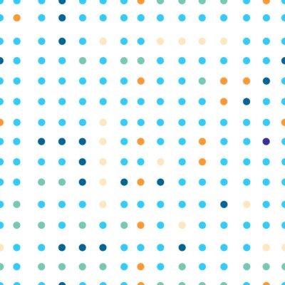 Fototapet Polka dots vektor seamless. Prickar i olika färger.