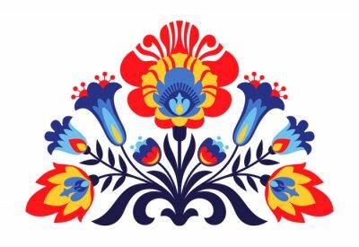 Fototapet Polska folk inspirerade blommor