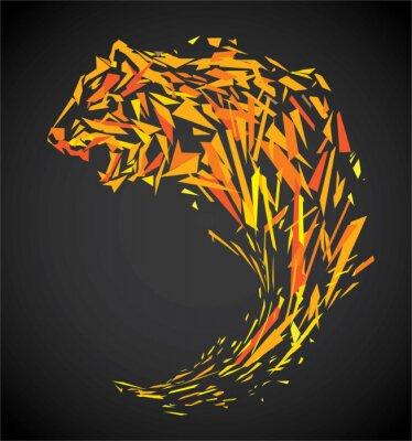 Fototapet polygon tiger