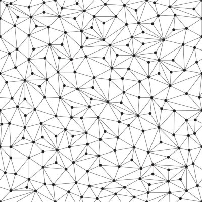 Fototapet Polygonal bakgrund, seamless mönster, linjer och cirklar