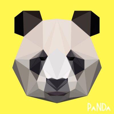 Fototapet Polygonal geometrisk panda porträtt