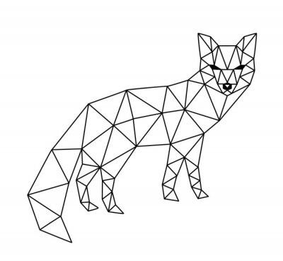 Fototapet polygonal räv