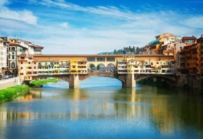 Fototapet Ponte Vecchio, Florens, Italien