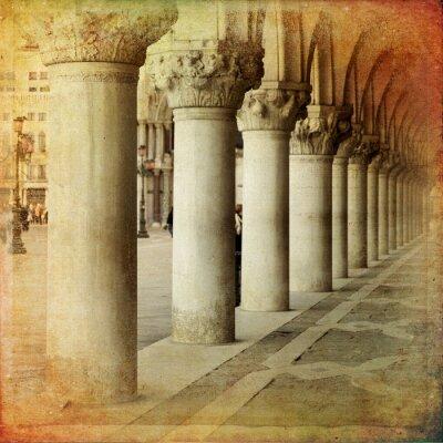 Fototapet Portico di Palazzo Ducale, Venezia