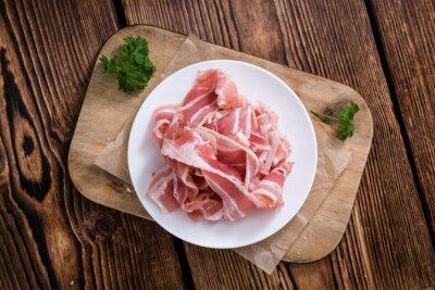 Fototapet Portion av rå bacon