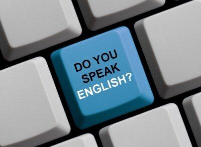 Fototapet Pratar du engelska? Sprechen Sie englisch?