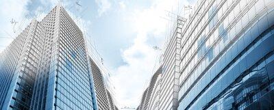 Fototapet Projekt av moderna byggnader