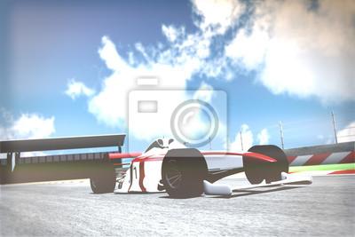 Fototapet Race Car on Track